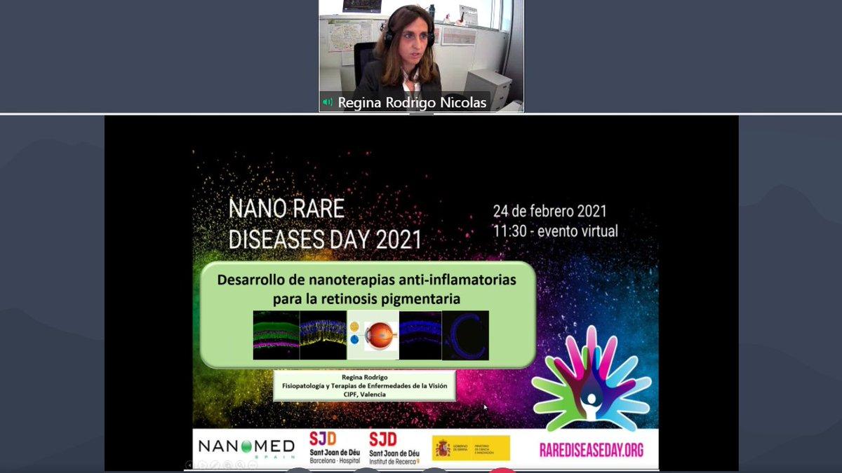 La Dra. Regina Rodrigo ha participado hoy en la jornada  organizada por @NanomedSpain @SJDbarcelona_es sobre las últimas innovaciones en diagnóstico precoz, liberación controlada de fármacos y nuevas terapias para abordar diferentes enfermedades raras https://t.co/uDdzuREv8N