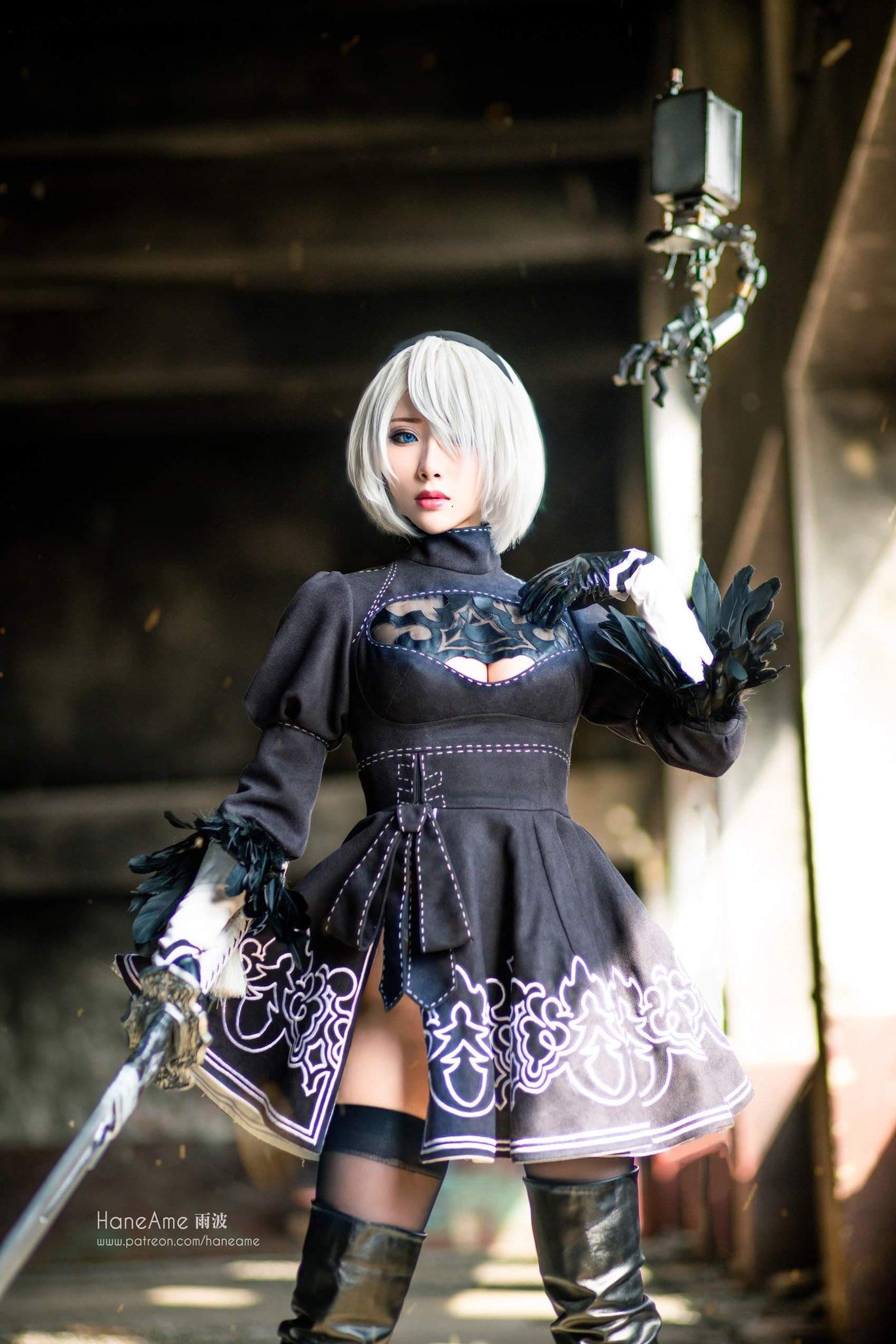 画像,#NieR #ニーア #2B4週年記念おめでとう🎈Nier 4 years anniversary 🎉My 2B cosplay I love her so m…