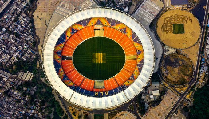 IND vs ENG 3rd Test: World's largest cricket stadium Narendra Modi Stadium has pavilions named 'Reliance End' and 'Adani End'.