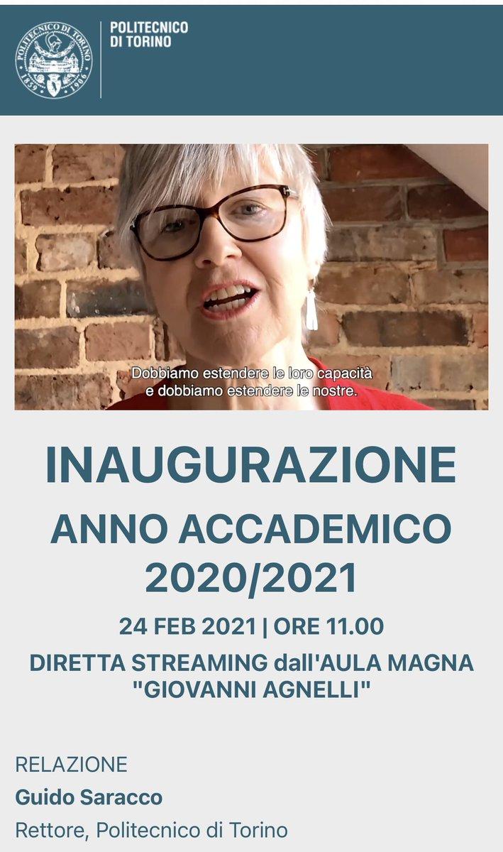 """@demartin @alisonrjames Molto interessante   """"Dobbiamo estendere le loro capacità, dobbiamo estendere le nostre"""" (su didattica e studenti)   cc @monacelt @CarloStagnaro  #InaugurationDay #polito"""