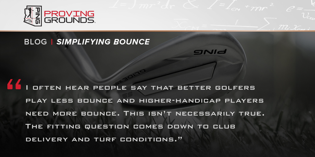 Knowledge = Power to #PlayYourBest. Gain a better understanding of bounce and how it impacts you wedge play in this PING Proving Grounds blog article:  #WednesdayWisdom