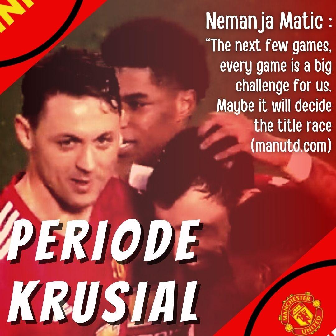 Menurut Matic Beberapa pertandingan ke depan akan sangat krusial dan menentukan hasil musim ini ()  #MUFC #ManchesterUnited #MU #matic #GGMU