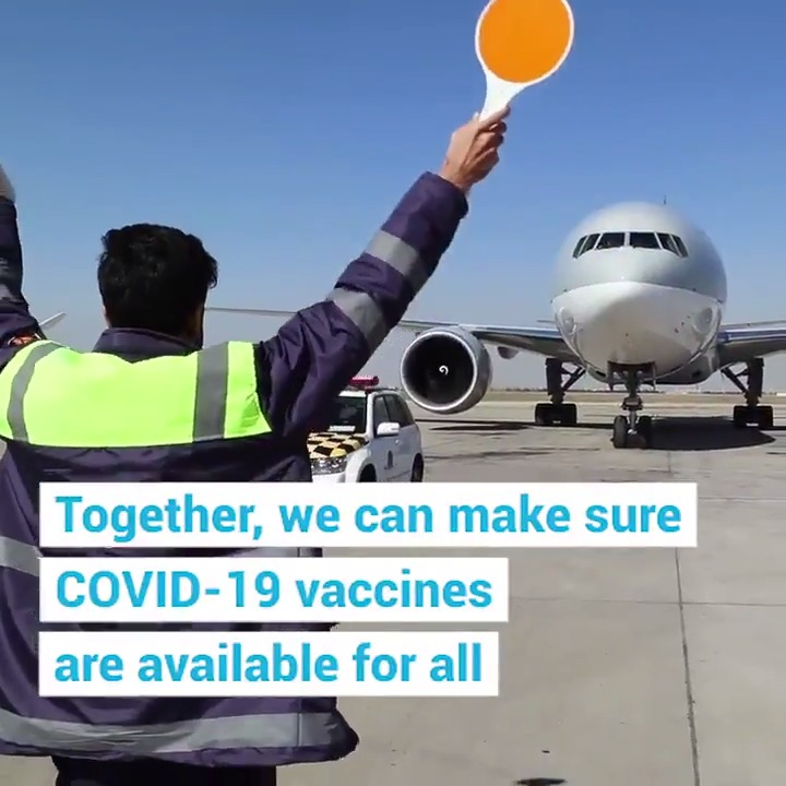 This morning, #Ghana made history as the first country to receive COVID-19 vaccines through COVAX.  It's the first of many shipments @UNICEF will help deliver with @WHO, @GAVI and @CEPIvaccines. https://t.co/dbHLMO9QHb