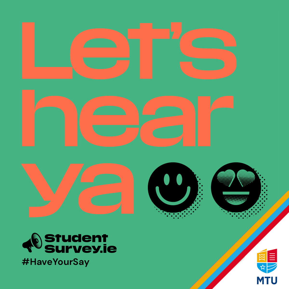 Have you completed the Student Survey Yet? Use your voice and influence the changes you want to see in your student experience. There's a chance to win some great prizes and vouchers. https://t.co/eBsqR3eGs6 https://t.co/1C80gLh1b2