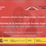 Image for the Tweet beginning: The online training on #SafeSchoolsDeclaration
