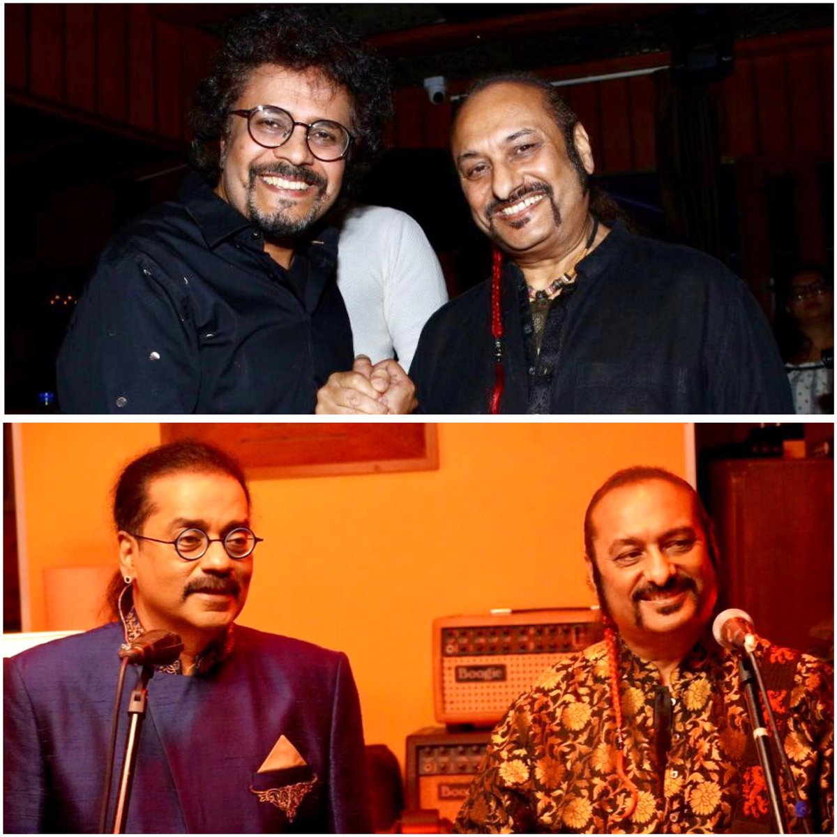 Big Congratulations to my Bros @bickramghosh & @SingerHariharan for #Ishq 🙌🏻❤️Big ups to @sufiscore for the amaze collaboration & event! Thanks for having me✨@SingerHariharan was so caught up, we didn't get to click a picture,but the #ColonialCousins are never out of pics😜