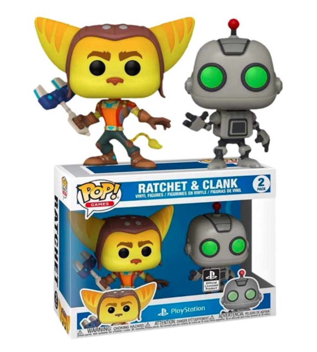 Funko Pop! Ratchet & Clank PlayStation Exclusive 2 Pack  Amazon USA 2