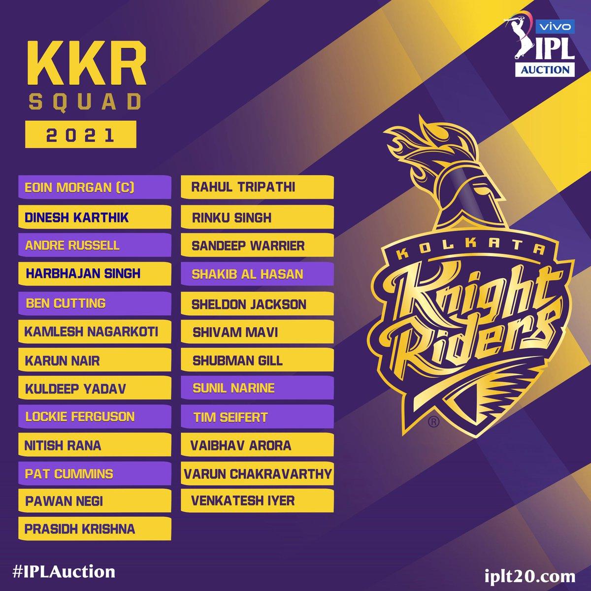 My playing XI for @KKRiders  Gill Tripathi Rana Shakib Morgan Karthik Russell Cummins Chakravarthy Mavi P Krishna  #KolkataKnightRiders #KKR #INDvENG #IPL #IPL2021 #Ahmedabad #axarpatel #smat2021 #VHTrophy #VijayHazareTrophy2021 #VijayHazareTrophy
