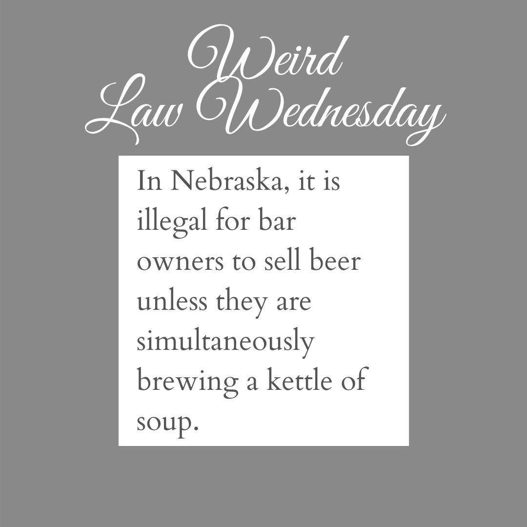 Sounds complicated to be a bar owner in Nebraska.. 🧐 #weirdlaws #personalinjury #caraccidentattorney