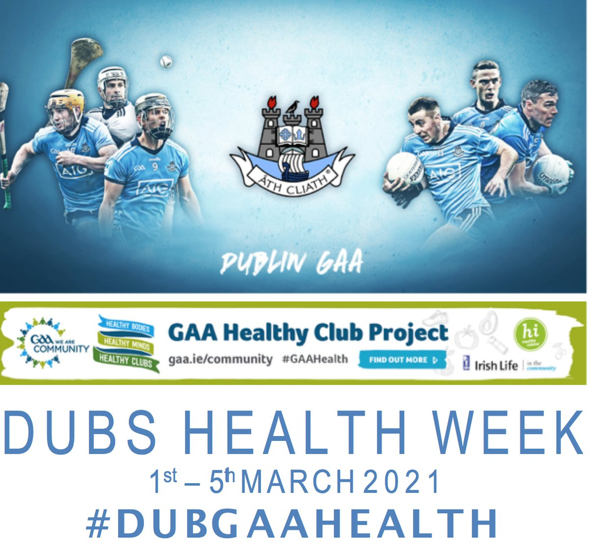 test Twitter Media - Dub Health Week gets underway tomorrow, with online talks across the week. These talks are OPEN TO ALL, members and non-members of the GAA!   Sign up details here ➡️ https://t.co/ujK7DHaeiQ  #DubGAAHealth https://t.co/5pM2LkGgpl