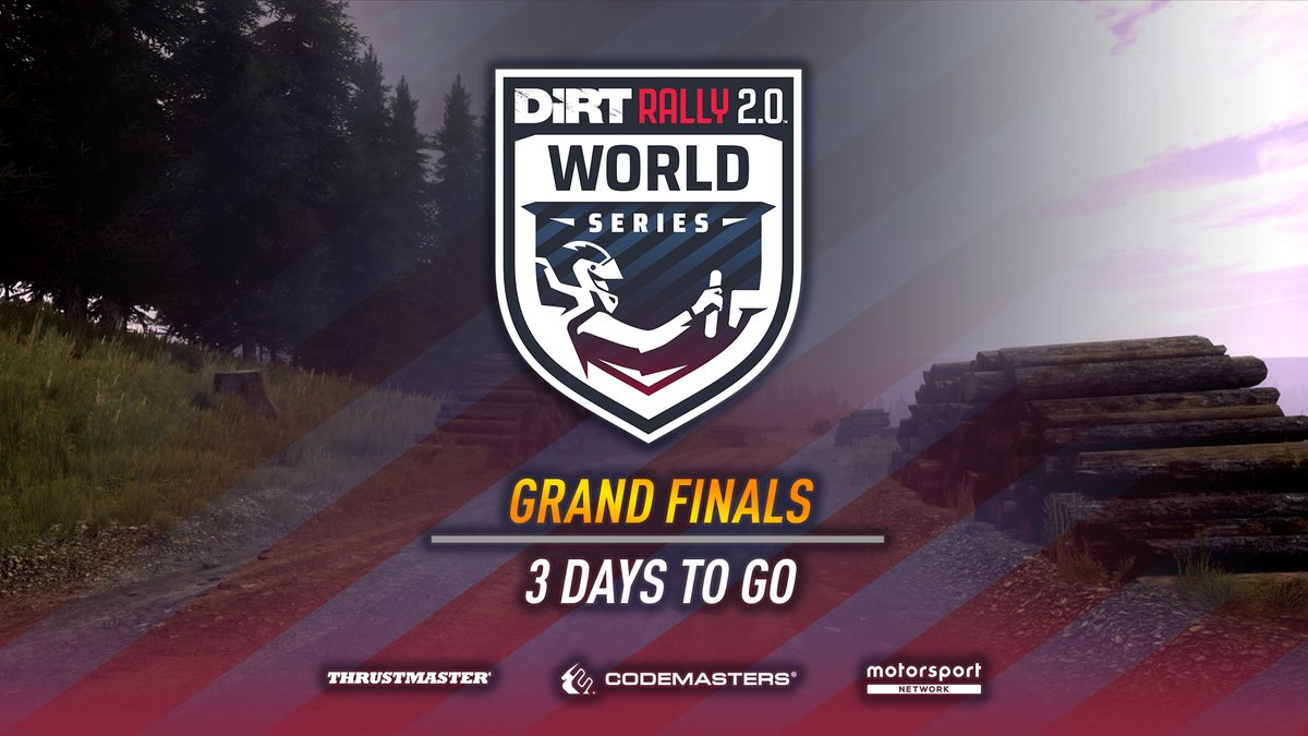 It's almost time... 👀  Join us this Saturday for the Grand Finals of the #DiRTRally 2.0 World Series! 🏆  Watch live on DIRT's YouTube or Facebook pages, Codemasters' Twitch or
