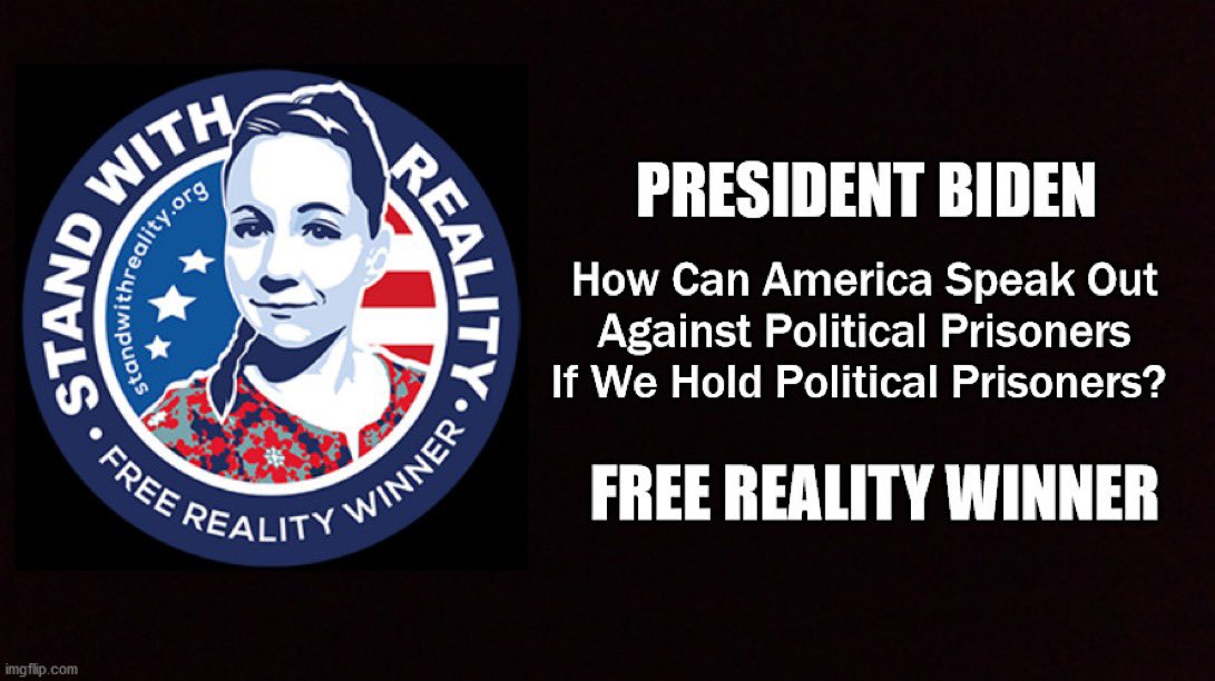 For Reality Winner's act of patriotism, she was silenced, lawyers gagged & Reality locked up. No Bail. The DOJ kept her hidden in horrific conditions. Never allowed to defend herself, charged under the archaic Espionage Act the TRUTH was weaponized from seeing the light of day.
