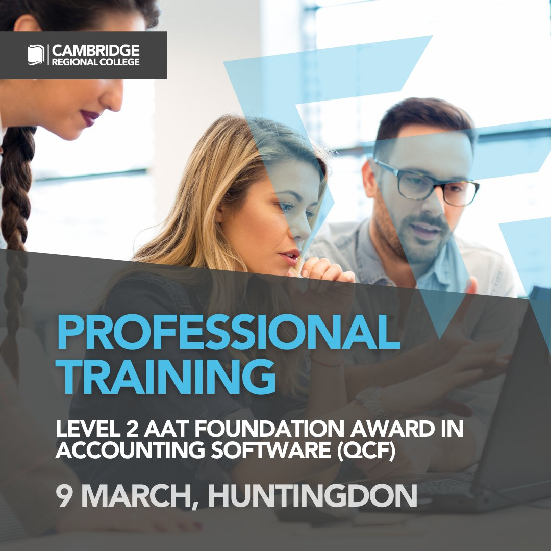 Looking to take the next step in your accounting career? Wanting to better develop your skills? Sign up to our Level 2 AAT Foundation Award starting in March this year.  Find out more here: https://t.co/CgiblxpfH7  #WeAreCRC #Accounting #ProTraining https://t.co/ykiYtcsI3e