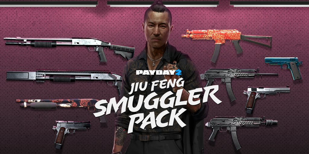 Jiu Feng Smuggler Pack 🎇  Jiu Feng has a shipment of firearms coming in right now. 💥Mosconi 12G Tactical Shotgun 💥AK Gen 21 Tactical Submachine gun 💥Crosskill Chunky Compact Pistol  Grab your weapons cache here 👇👇