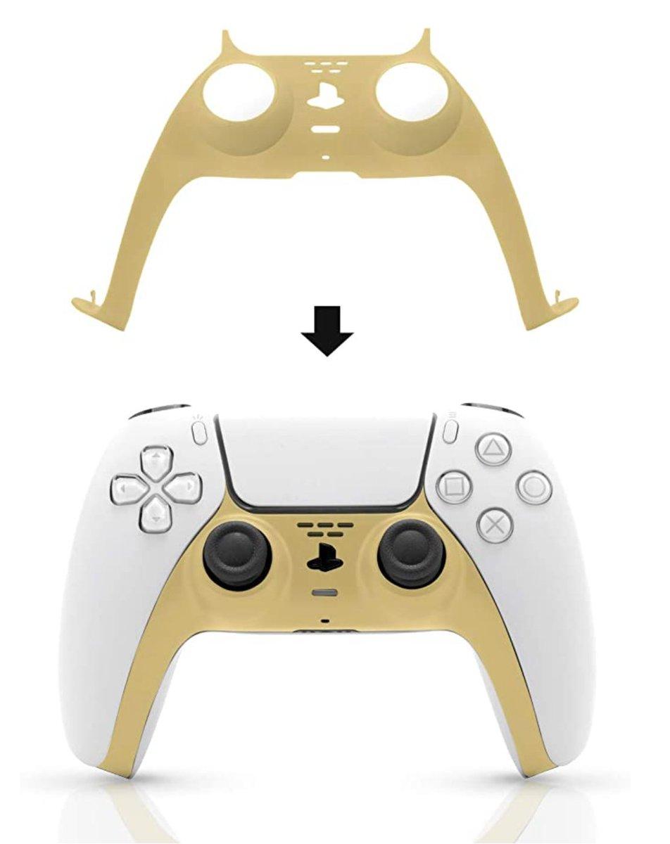 Gold PS5 DualSense Accessory. More color options also. $11.99  Amazon USA 5