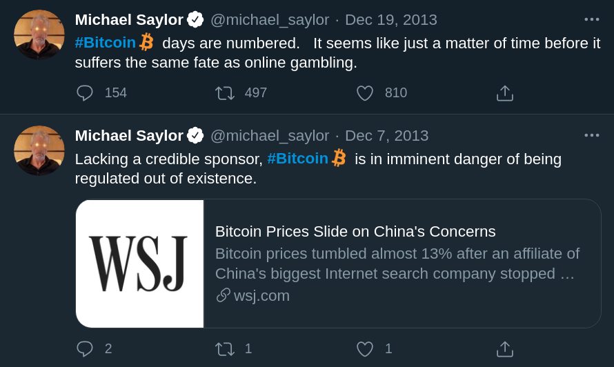How it started / How it's going #Bitcoin
