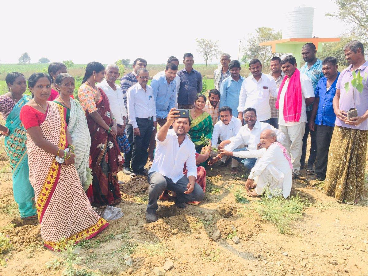 @KTRTRS @trspartyonline @MPsantoshtrs On the occasion of Hon'ble CM Sri KCR garu, Birthday planted 67 Saplings as part of #KotiVriksharchana Drive !   MPP,Sarpanchs ,MPTCs, Local Body Leaders Were Also Present   #HappyBirthdayKCRSir  #GreenIndiaChallenge  @KTRTRS @MPsantoshtrs @RaoKavitha @trspartyonline