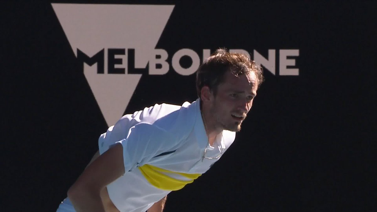 #AusOpen   Daniil Medvedev wins the all-Russian clash to reach his first semi-final in Melbourne   The 4th seed beats his friend and 7th seed Rublev 7-5, 6-3, 6-2   📽️ Australian Open