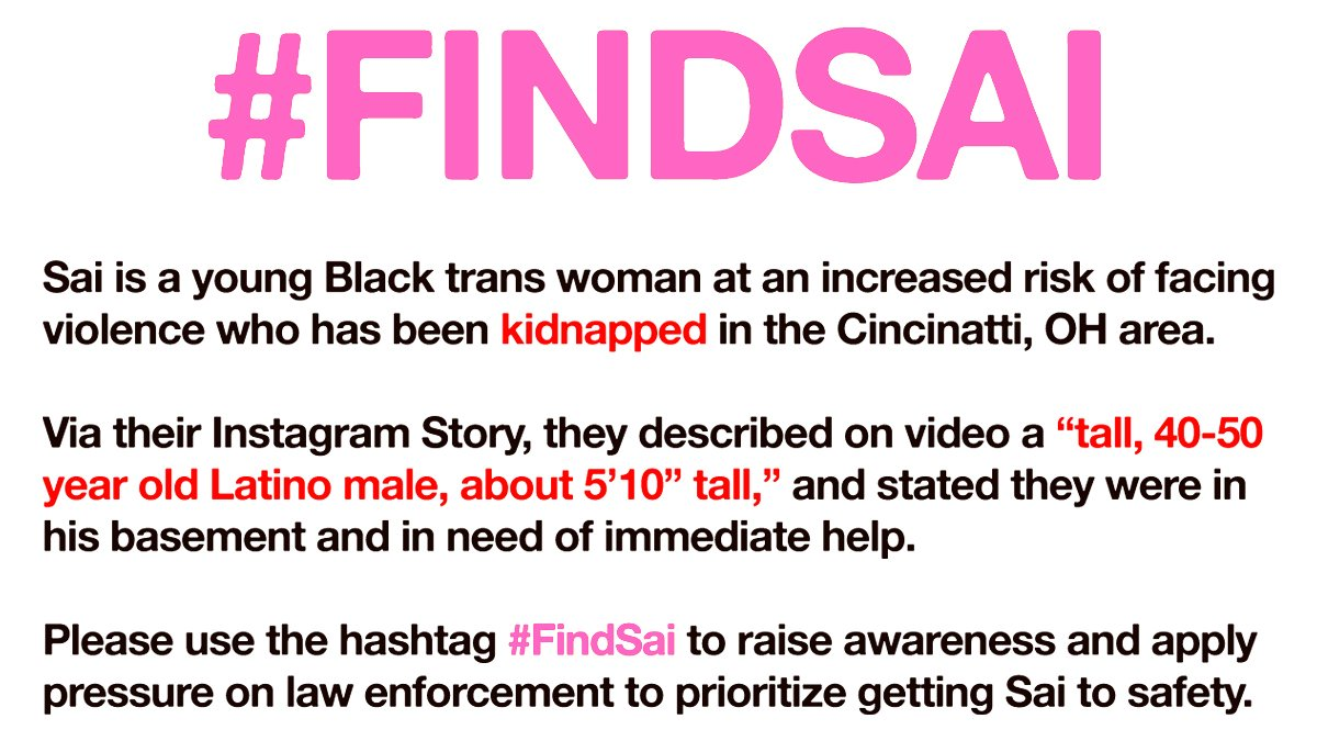 Replying to @milfwentz: #findsai THIS IS WHAT THEY LOOK LIKE, KEEP RTING AND SHARING INFORMATION