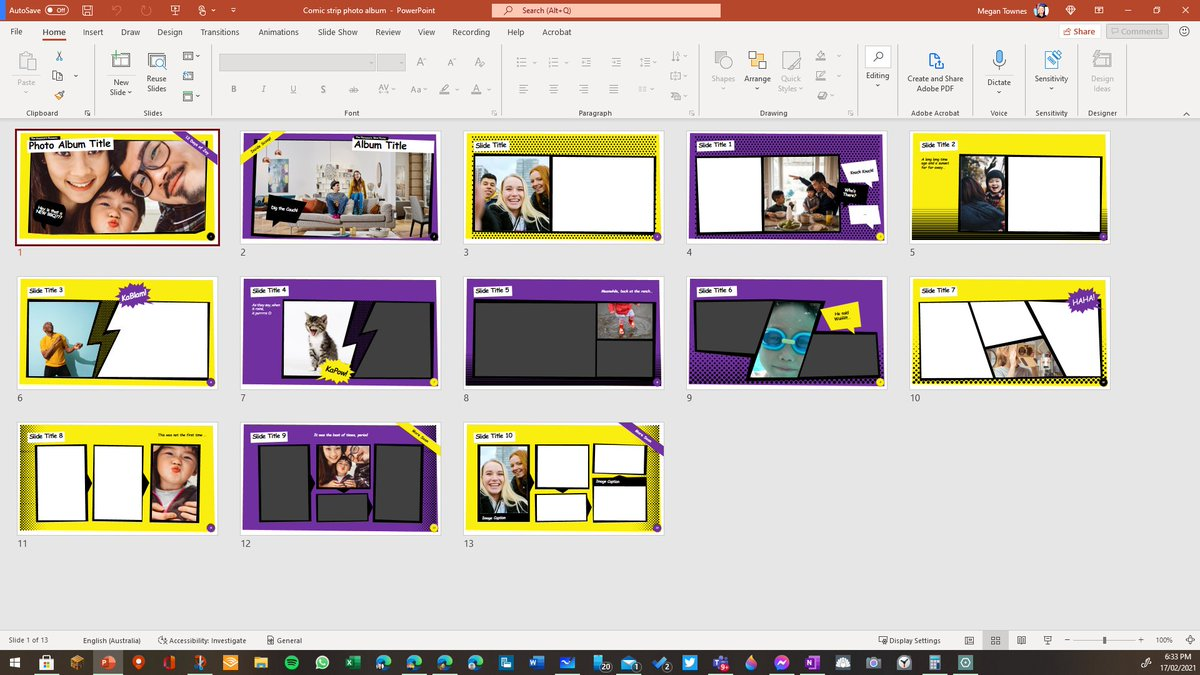 Check out this cool new template that just popped up in PowerPoint! ♥♥♥