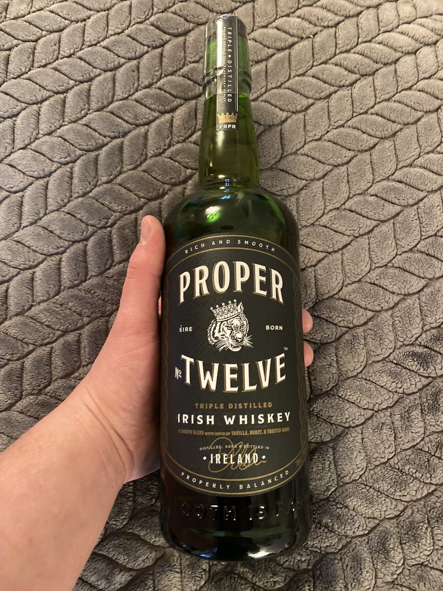 Worked a night shift last night @Morrisons seen proper twelve come in and couldn't help my self but 2 grab a bottle when I finished, cheers @TheNotoriousMMA for a proper good morning 👍🏻👍🏻 #connormcgregor #whiskey