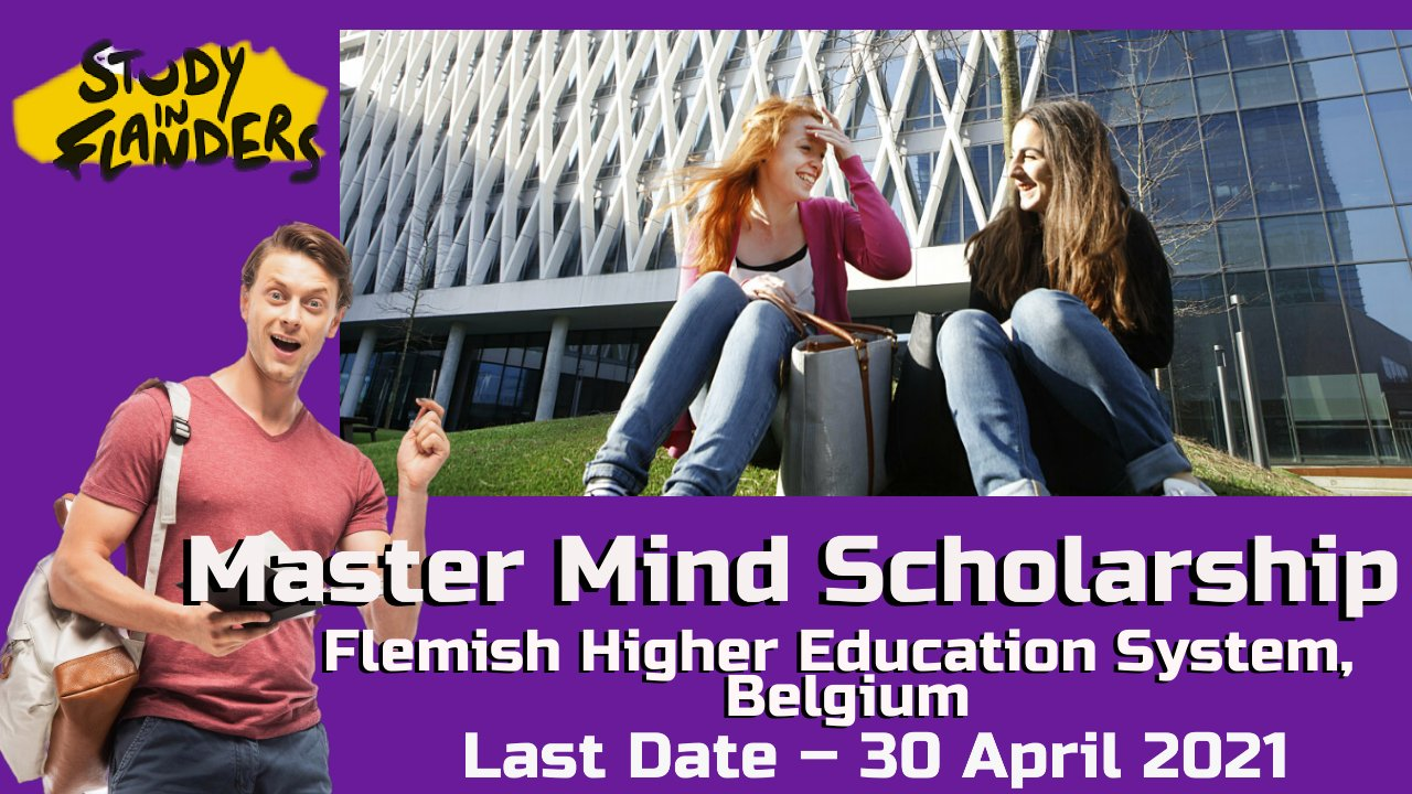 Master Mind Scholarship by Study in Flanders, Belgium