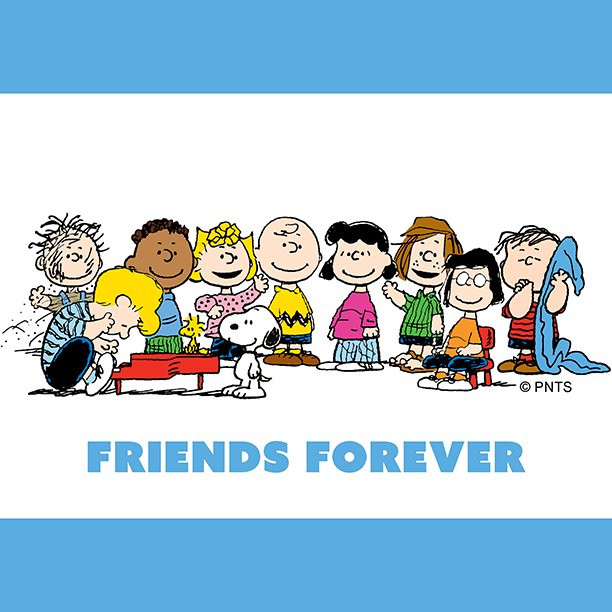 Replying to @Snoopy: Happiness is having best friends forever.