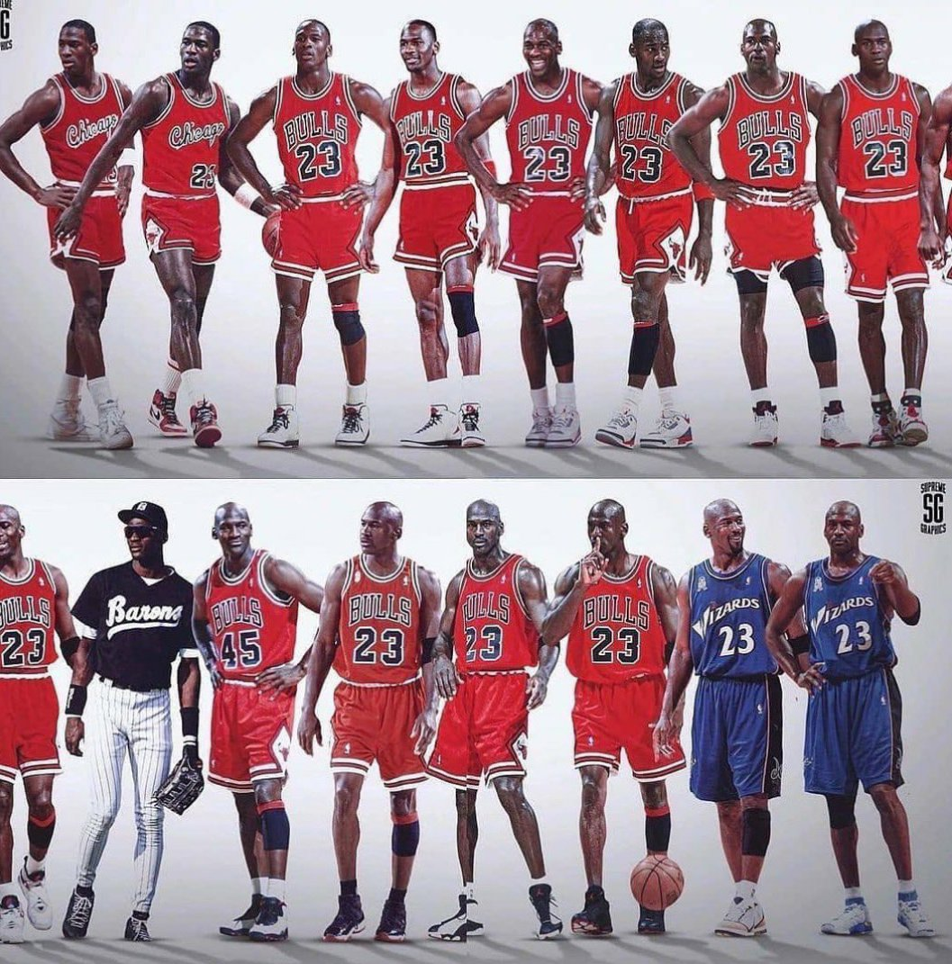 Replying to @LuckyLouieR: The Greatest sports evolution given to man! #HappyBirthdayMichaelJordan