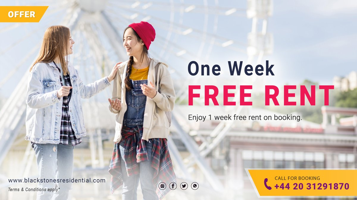 𝗢𝗡𝗘 𝗪𝗘𝗘𝗞 𝗙𝗥𝗘𝗘 𝗥𝗘𝗡𝗧  Enjoy 1 week free rent on booking.  #property #offer #freerent #discount #flat #apartment #london #landlord #lockdown2uk #Rent #pricedrop #town #home