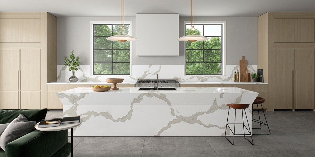 The subtle shades and textures of @CaesarstoneUK's quartz surfaces create residential and commercial interiors with a warmer feel and a softer edge [AD] #ribajproducts ribaj.com/products/caesa…