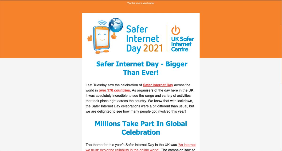 Fantastic achievement @childnet and all partners involved and @trilbytv are proud to be working and supporting your great cause 👍#SaferInternetDay #AnInternetWeTrust