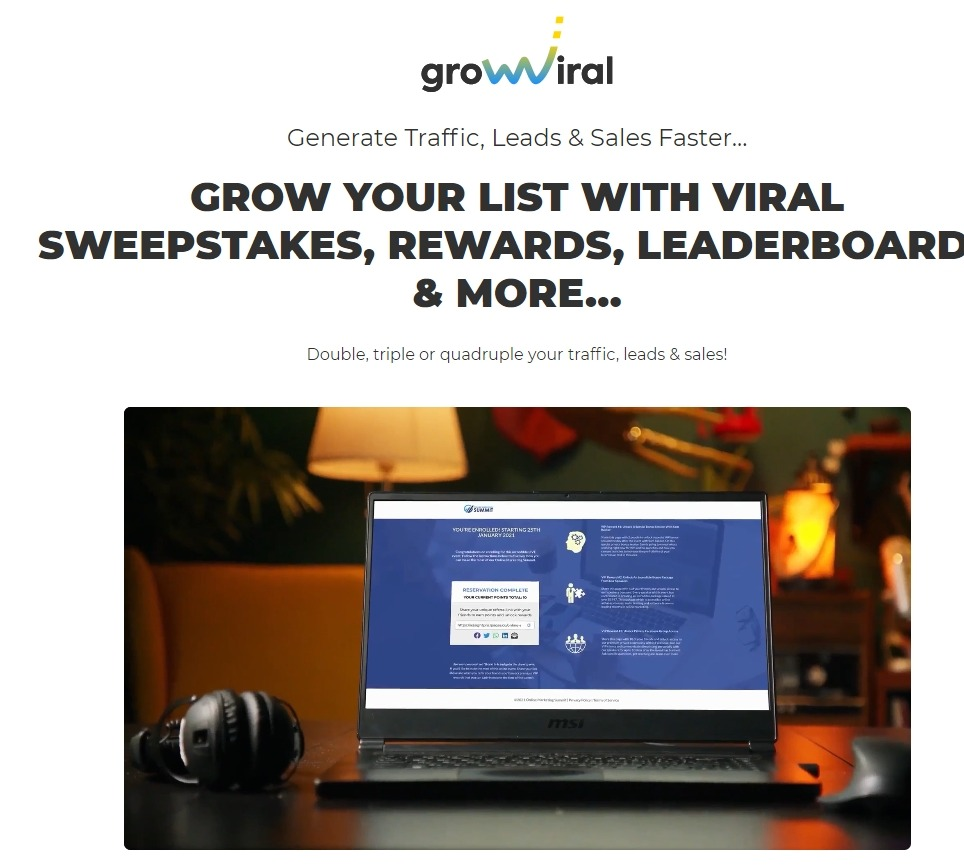 Grow Viral is a brand new software For marketers who like free traffic. It uses a unique referral system combined with social traffic and email to help users to generate more traffic leads and sales.   #DigitalMarketing #marketing