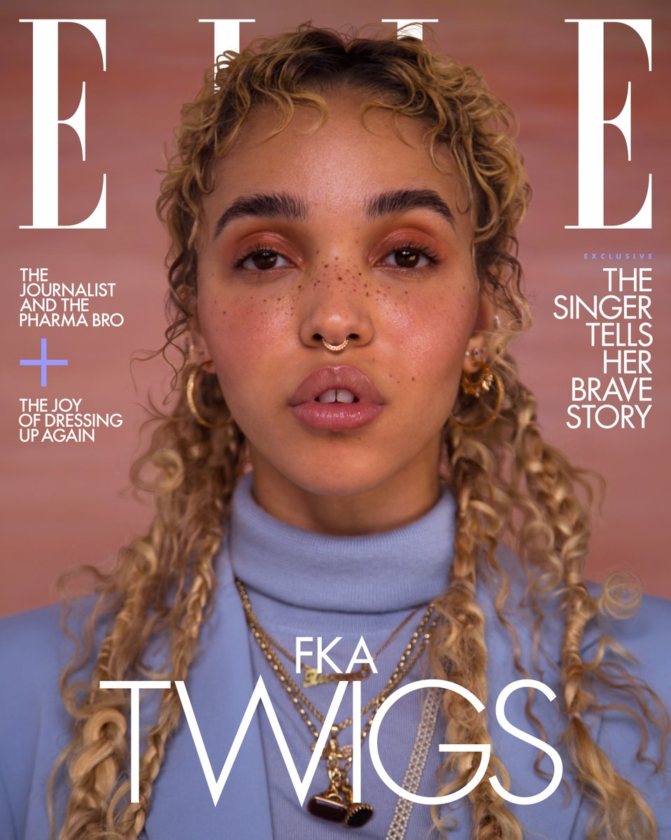 """""""It's a miracle that I came out alive,"""" @FKAtwigs says of the abuse she endured for nearly a year at the hands of her former boyfriend and 'Honey Boy' co-star Shia LaBeouf. ellemag.co/tg7XAub"""