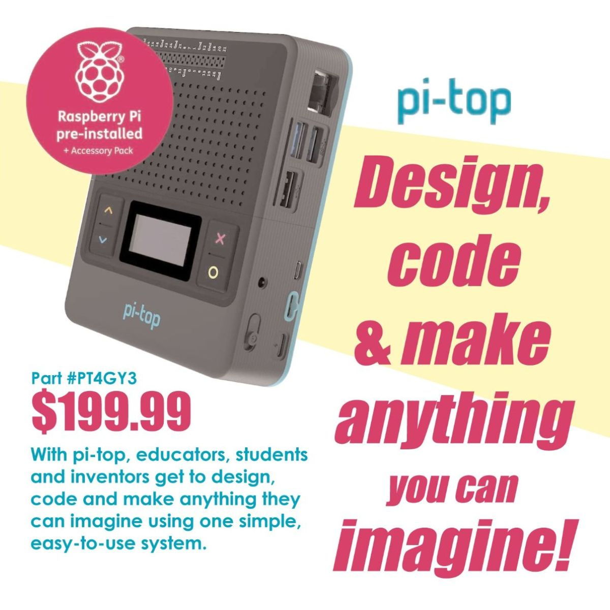 Join pi-top this Thursday, 2/18 at 3:30pm CST to review how job markets will change due to technology and how educators can utilize technology to adapt and prepare students. Attendees will be entered to win a pi-top 4 and Foundation Kit! Register at https://t.co/HNz9ph4qUf https://t.co/N3SlA0ApZr