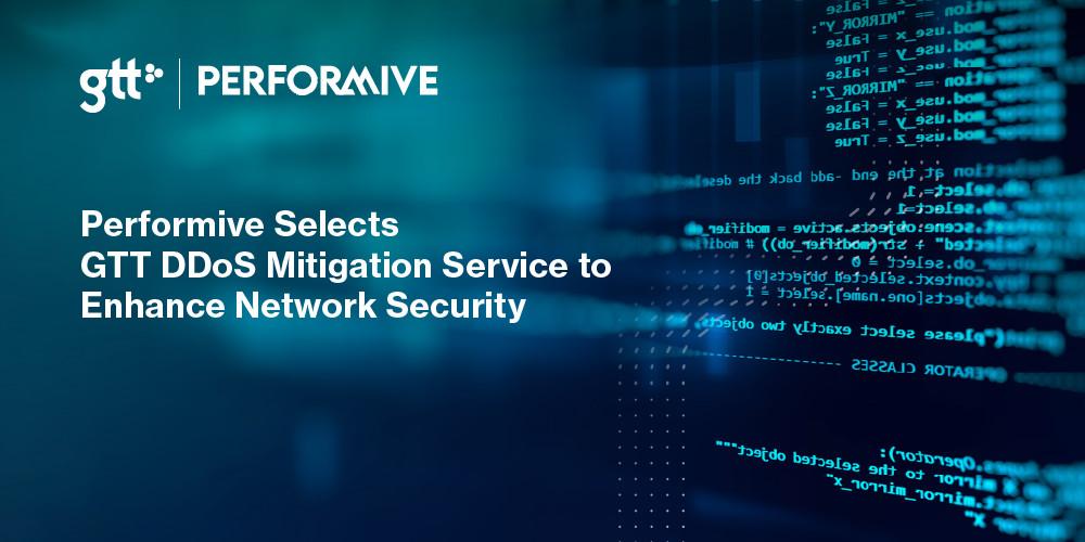 Performive väljer GTT:s DDoS Mitigation tjänst för att förbättra nätverkssäkerheten  https://t.co/Pj8ZQl1UWi https://t.co/KcIDmqrd66