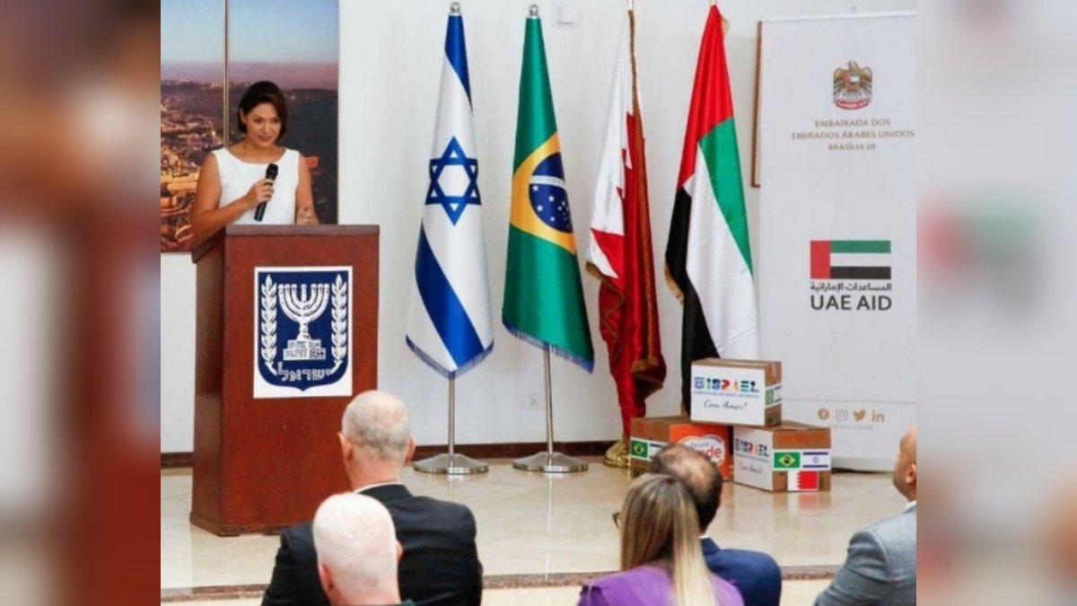 إسرائيل تغرد : مبادرة مشتركة لسفارات كل من #الامارات #إسرائيل #البحرين  قدموا فيها سلالا من  المنتجات الغذائية ومسا…