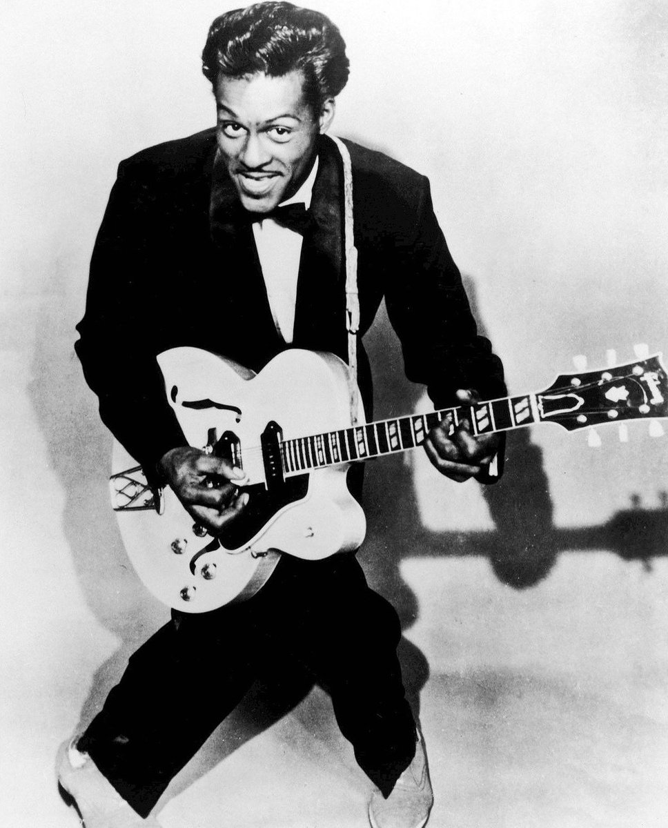 "Chuck Berry's famous ""duck walk"" dance originated in 1956 when he attempted to hide wrinkles in his trousers by shaking them out with his now-signature body movements.  Boardman 330-782-6100 Cleveland 440-461-1155  #BlackHistory #MonicaHoskinsAgency #HereForYou #AmFam"