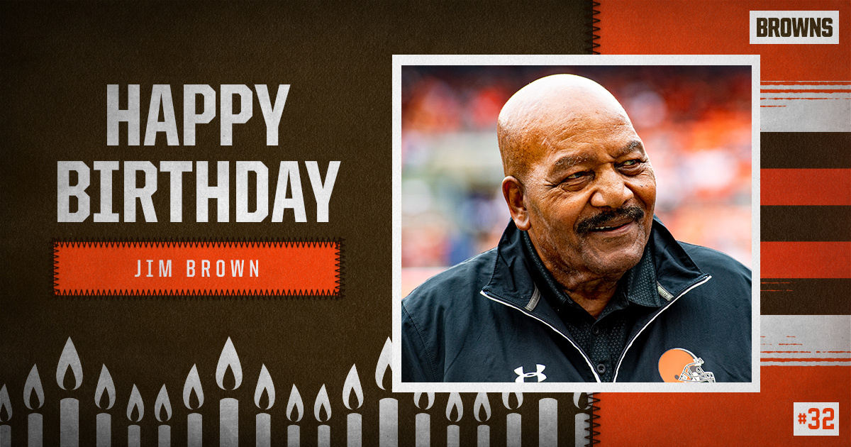 Replying to @Browns: RT to wish @JimBrownNFL32 a Happy Birthday! 🥳