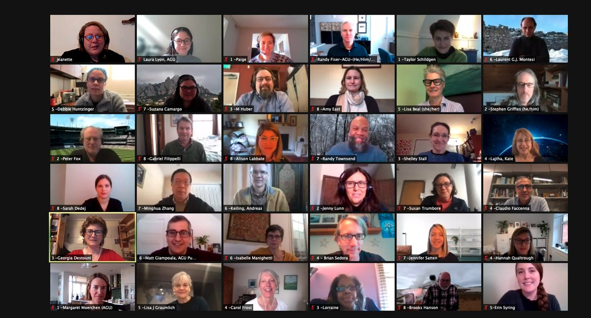 #AGUpubs is hosting our Editors in Chief retreat virtually. We have spoken about a number of important topics, including how to increase student/early career as authors/editors/reviewers; books; enhancing diversity & inclusion; and special collections. agu.org/pubs