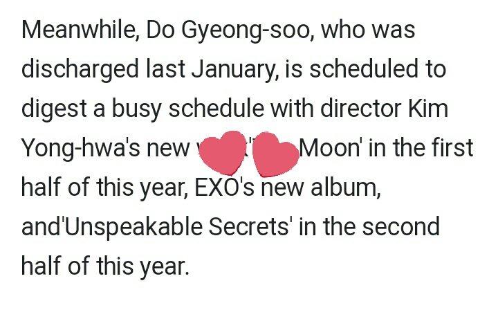 Work slowly for your album Kyung. I will wait for it. 🤩  #EXO_COMEBACK  #디오 #DOHminationEraBegin  #사랑 #경수