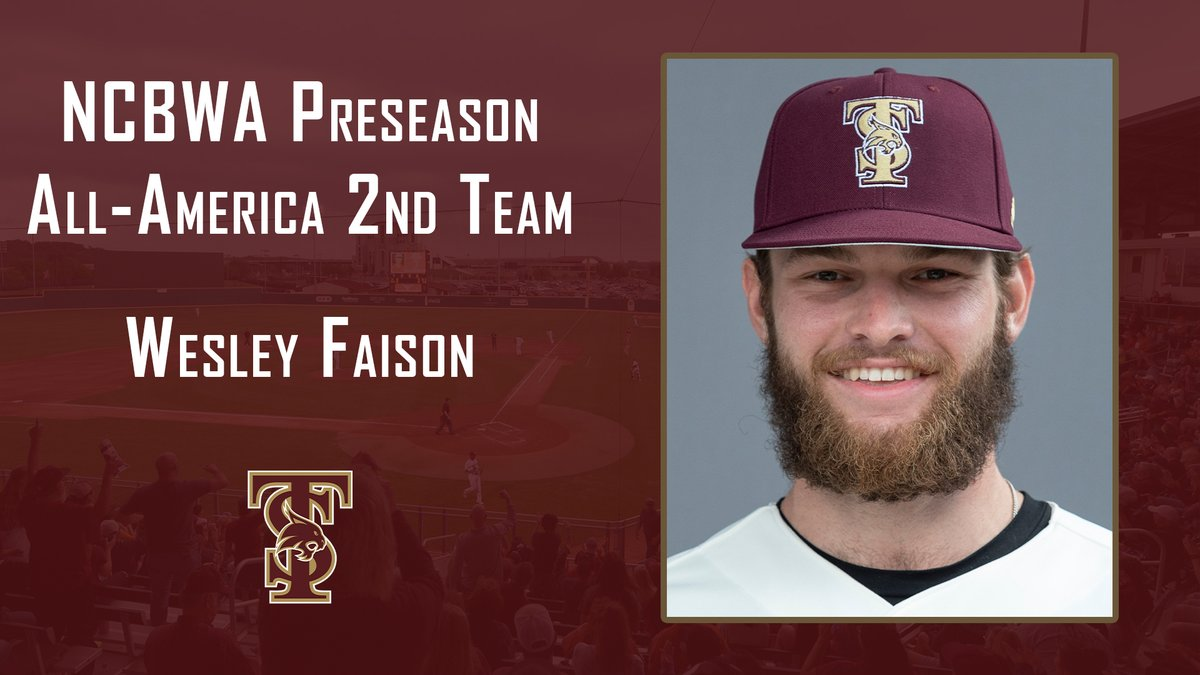 Congrats to @wesley_faison on being named to the @NCBWA Preseason All-America 2nd Team! He is the first Bobcat selected to a preseason All-America team since 2012. 🔗: bit.ly/2NxNaeQ #EatEmUp #ComebackStrong #SunBeltBSB