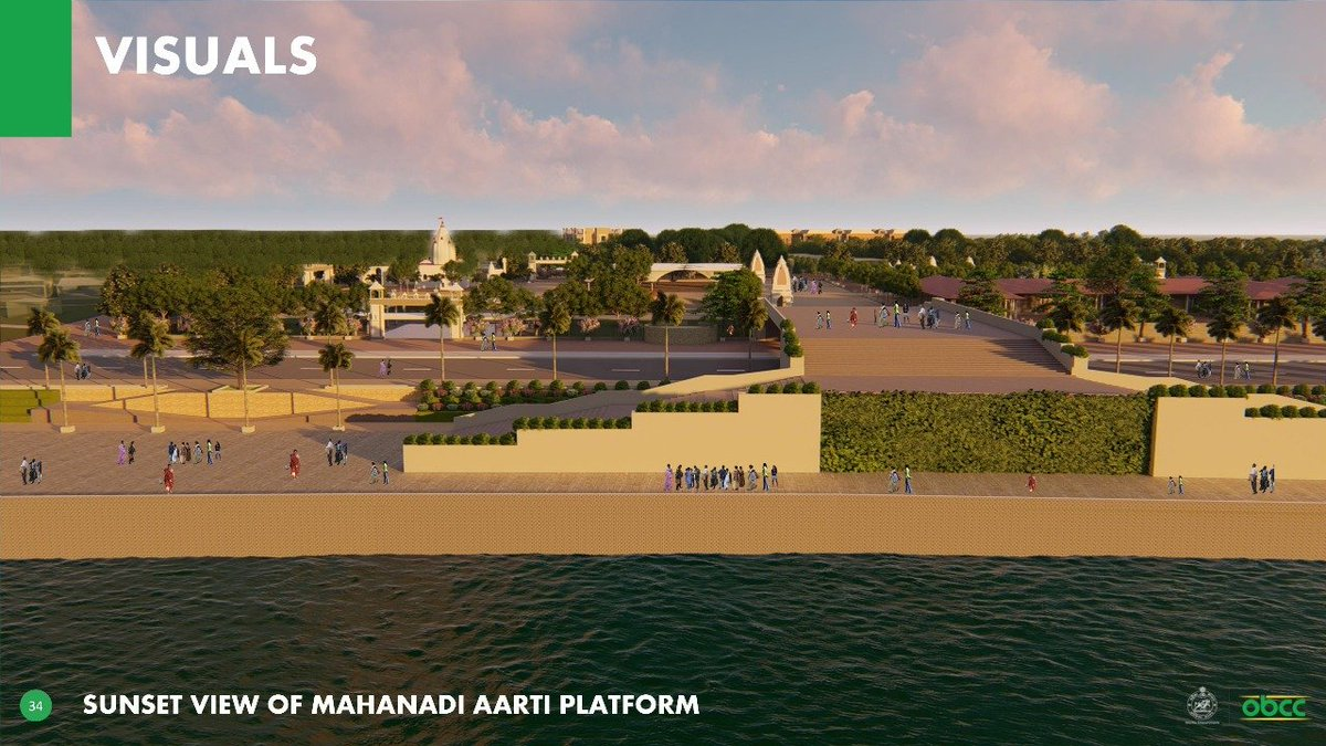 The plan also includes development of heritage corridor, tourist amenities, road connecting the temple to river bank, decks for Alati, riverfront & lake shore. It also includes food parks, Architecture Park & an open air theatre, vending arrangement for sale of various souvenirs.