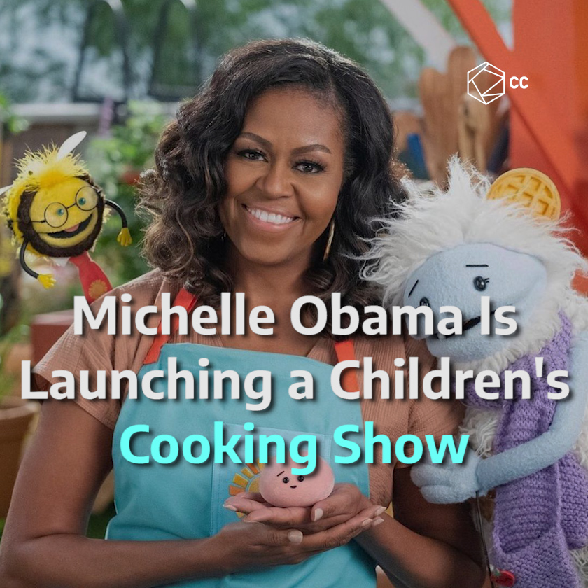 .@MichelleObama will have her own show on Netflix in which she will teach children about the types of food around the world 🤩 #WafflesAndMochi