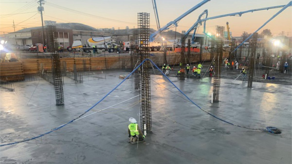 This was an 'all hands on deck' event. Proud to work w/ @ThinkBigD to supply 8,155 CY of concrete (815 truck loads 💪) for this single-day pour for the Post House District project in Salt Lake City. #Concrete #UtahConstruction #WeBuildUtah #BuildConfidence https://t.co/0CYqpmHj1M https://t.co/ehDhAV2qMW