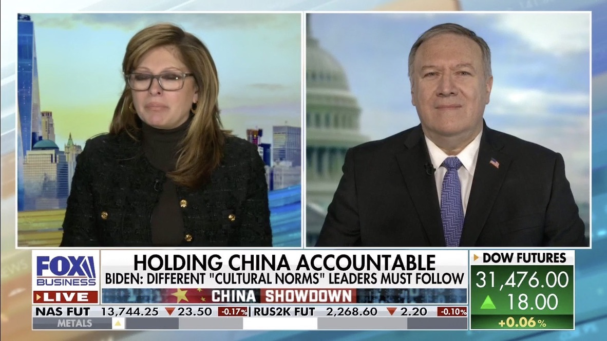 Mike Pompeo, former U.S. Secretary of State, discussing Biden's remarks on China, Iran, and the the role of the United States in Israel -- PART 1 @MikePompeo