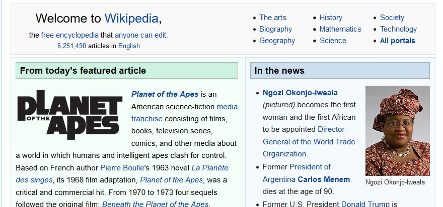 Unfortunate headers from #Wikipedia