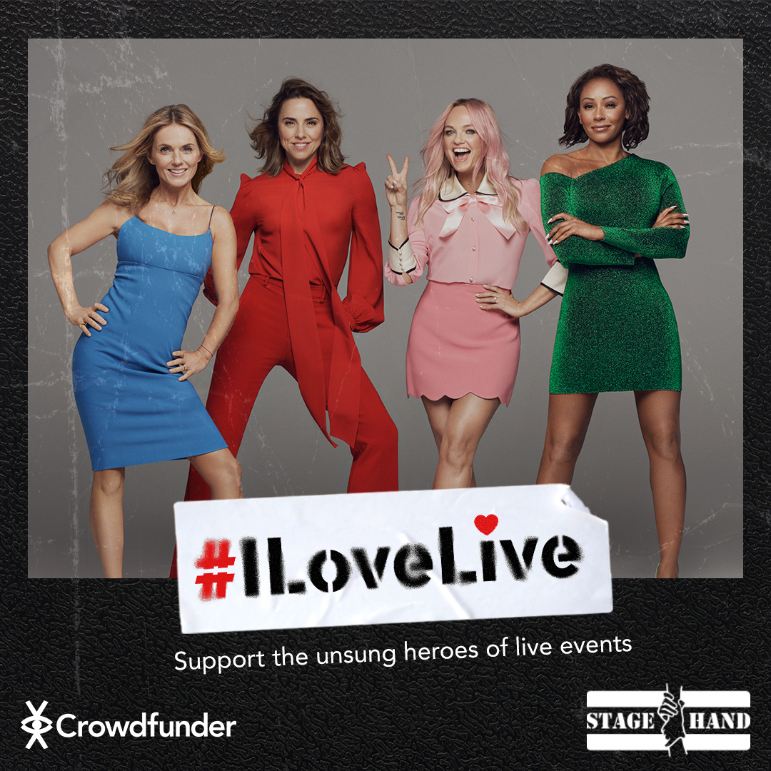 We know it takes a village to put on a live show that's why we are partnering with #ILoveLive prize draws with @Crowdfunder and @stagehandcharity to help raise vital funds for crew.  We're donating the Union Jack sofa we used on the 2019 Spiceworld tour 🇬🇧