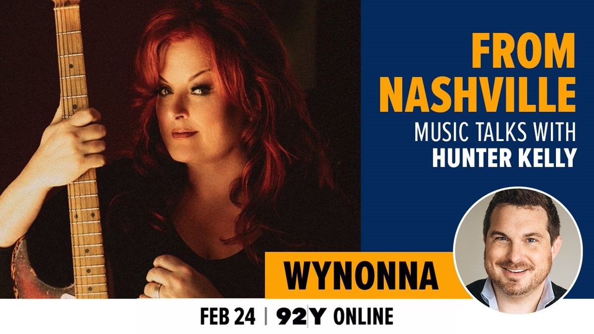 She's a force of nature, and @AppleMusic Country journo @hunterkelly gets @Wynonna's insights on her legendary career & an exclusive performance w/her husband @cactusmoser, from her new release, Recollections, @92Y online 2/24, 7 pm ET/6 pm CT: