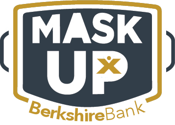 Dont get complacent.Right now, we need tobe leaders in our communities and#MaskUp.Encourage others to follow your example by posting a photo of youwearing a mask. Use #MaskUpand tag @BerkshireBank.
