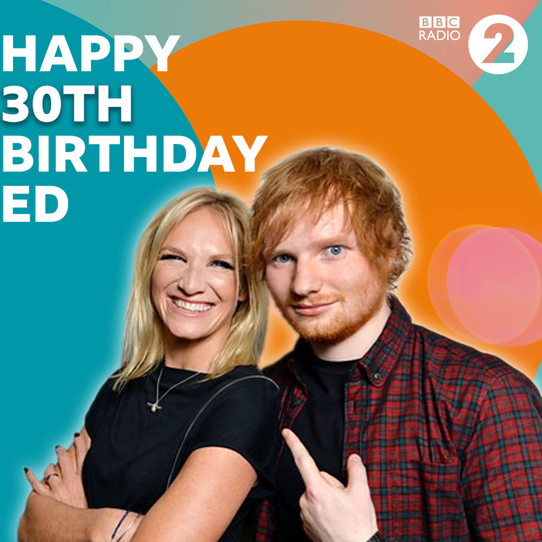 Happy 30th birthday @edsheeran! @jowhiley has got just the #ShinyHappyPlaylist to help you celebrate. 🎉🎈🎁